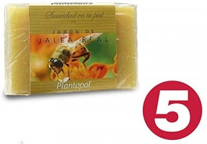 5X PASTILLA JABON NATURAL JALEA REAL 100 gr plantapol