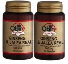 GINSENG con JALEA REAL 600 mg 2 x 60 Cáps. OBIRE