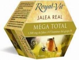 Royal-Vit Jalea Real Mega Total de 20 Viales de 10 ml de Dietisa