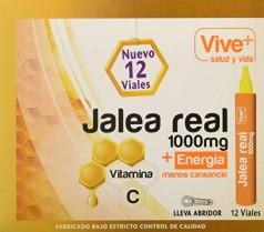 Vive+ Jalea Real para Adultos – 3 Paquetes de 12 Unidades